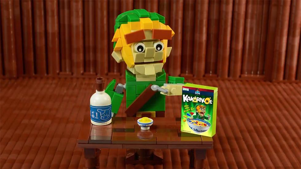 Comercial cereal Zelda fanmade