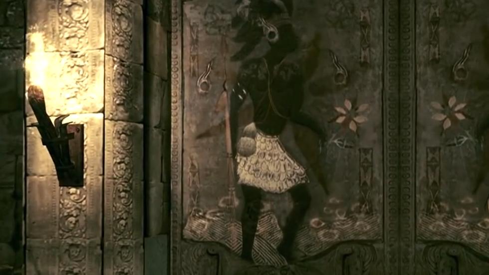 Mural encontrado en las ruinas Ndipaya