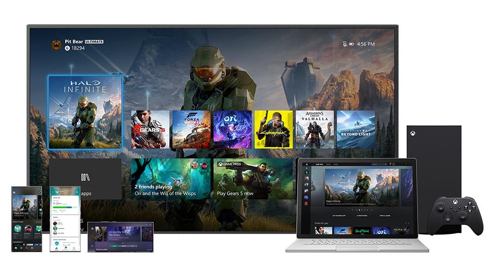 Interfaz Xbox Series X