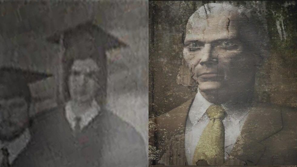 James Marcus al momento de su graduación (izquierda) y como jefe del Centro de Formación (derecha)