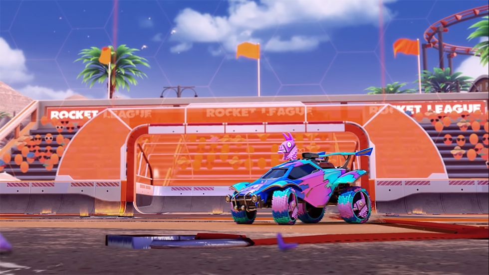 Llama-Rama Fortnite Rocket League