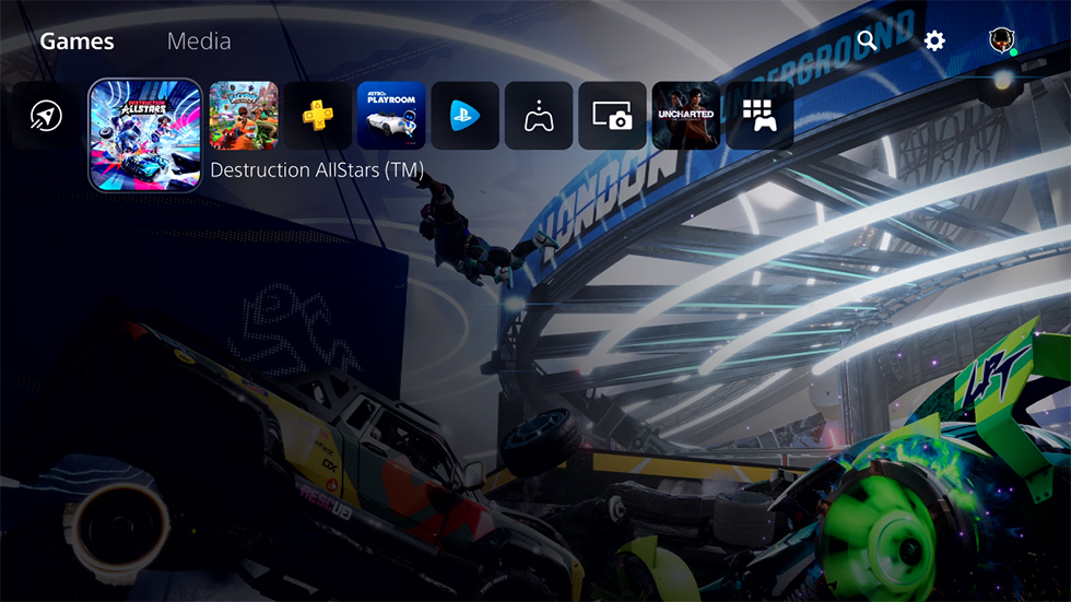 Interfaz PlayStation 5