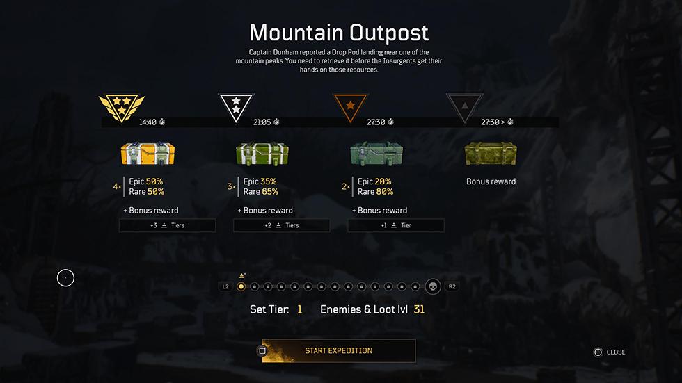 Reseña Outriders Endgame Recompensas